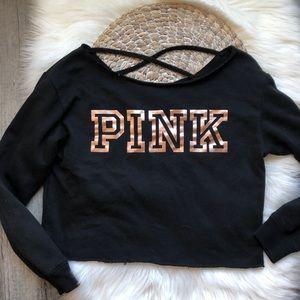 victoria secret pink • cropped sweater